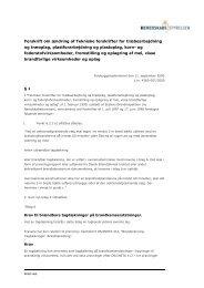 Ændringsforskrift af 11. september 2000 (pdf) - Beredskabsstyrelsen