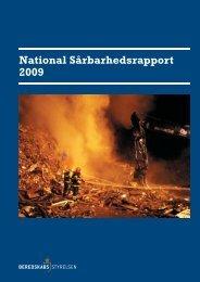 National SÃ¥rbarhedsrapport 2009 - Beredskabsstyrelsen