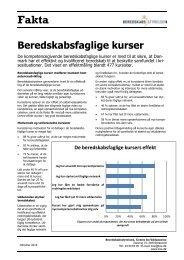 Faktaark - Effekt af beredskabsfaglige kurser 2012