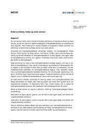 Notat om blinde, falske og reelle alarmer (pdf) - Beredskabsstyrelsen