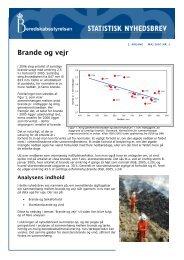 Statistisk Nyhedsbrev nr 3 - Brande og vejr - Beredskabsstyrelsen