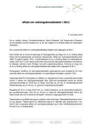Aftale om redningsberedskabet i 2011 - Beredskabsstyrelsen