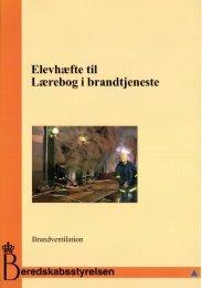 Elevhæfte til Lærebog i brandtjeneste - Beredskabsstyrelsen