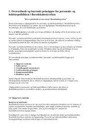 1. Overordnede og bærende principper for personale- og ...