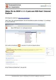 Sådan får du ODIN´s 1-1-2 puls som RSS-feed i Internet Explorer