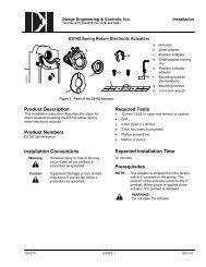 ES142 Installation Instructions - Dodge Engineering & Controls, Inc.