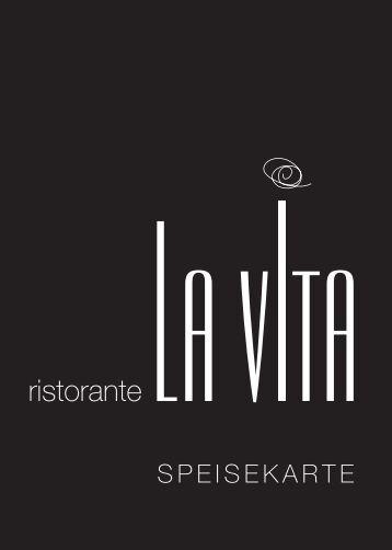 """Ristorante """"La Vita"""" – SPEISEKARTE"""