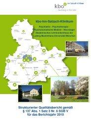 Qualitätsbericht 2010 - kbo-Inn-Salzach-Klinikum