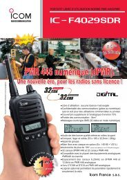 Documentation commerciale IC-F4029SDR - pmr446