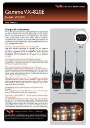 VX-820 Series Spec Sheet - Vertex Standard