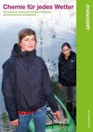 Chemie für jedes Wetter - naturschutz.ch, Natur