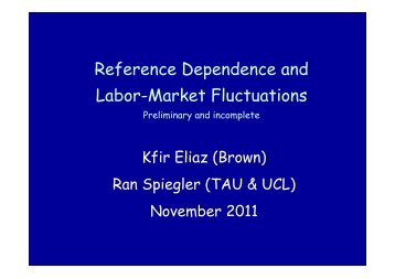 Reference Dependence and Labor-Market Fluctuations