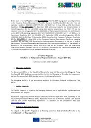 On the basis of Council Regulation (EC) No 1083/2006 of 11 ... - SI-HU