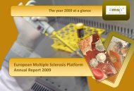 Annual Report 2009_Final.pdf - European Multiple Sclerosis Platform