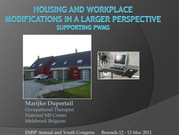 Home Adjustments and workplace modifications supporting PwMS ...