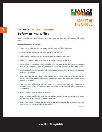 SAFETY AT THE OFFICE