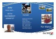 Angebote für Senioren - Gemeinde Gachnang