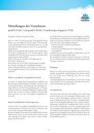 Mitteilungen des Versicherers - CSS Versicherung AG