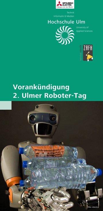 Vorankündigung 2. Ulmer Roboter-Tag - ZAFH Servicerobotik