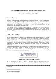 XML-basierte Visualisierung von Geodaten ... - GIS-Management