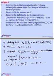 Aufgabe 9 1 Berechnen Sie die Übertragungsfunktion H(f f ) für eine ...