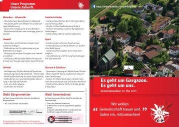Es geht um Gargazon. Es geht um uns.