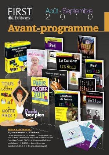 AP First Aout-Septembre 2010 V4.indd - Pour les Nuls