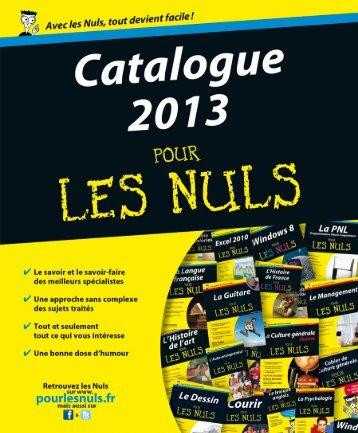 Catalogue 2013 Pour les Nuls