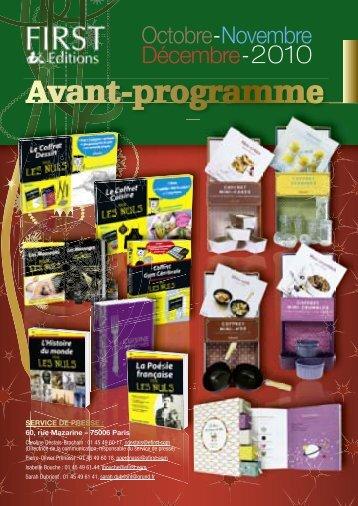 Octobre -Novembre Décembre - 2010 - Pour les Nuls