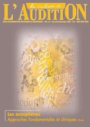Télécharger le PDF complet N°6 Année 2003 - Collège National d ...