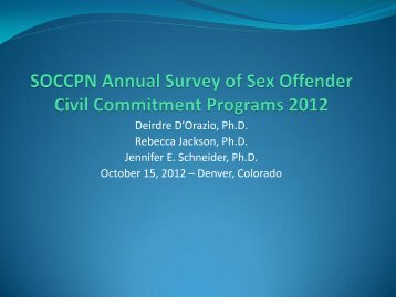 SOCCPN Annual Survey 2012 - Office of Violent Sex Offender ...