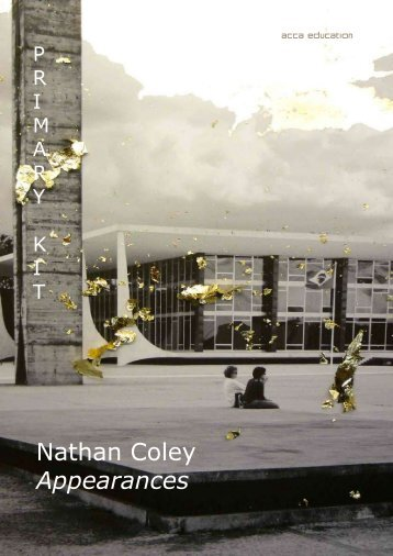 Nathan Coley Appearances - ACCA