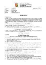 Stavební povolení k.ú. Přemyšlení - Kovalovská Nikola - Klecany