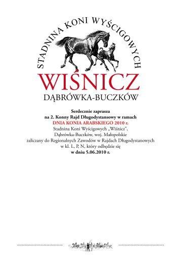 propozycje Wiśnicz - Małopolski Związek Jeździecki