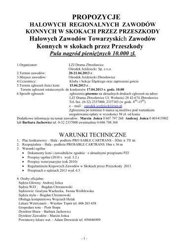 Propozycje HZR HZT B Zbrosławice 20-21.04.2013 - Małopolski ...