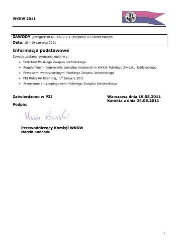Propozycje CNC Bolęcin 18 - 19.06.2011 - Małopolski Związek ...