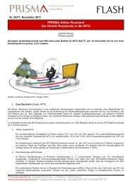 Flash Nr. 04-2011 PRISMA Aktien Russland - PRISMA Anlagestiftung