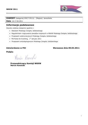 Zawody CNC Jaroszówka 16-17.04.2011 - Małopolski Związek ...