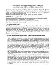 Protokoll der Pfarrgemeinderatssitzung vom 7 - Lobberich.de