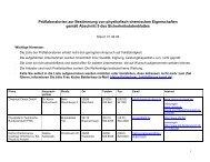 Prüflaboratorien zur Bestimmung von physikalisch- chemischen ...