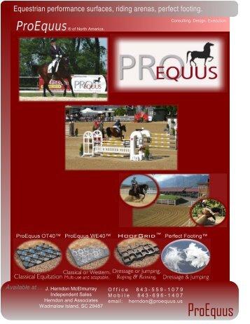 Equestrian performance surfaces, riding arenas, perfect ... - ProEquus