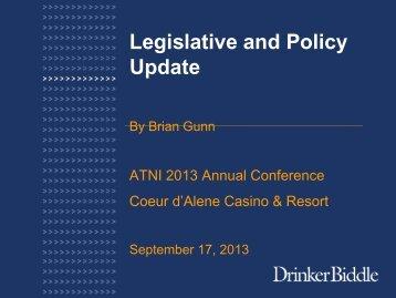 Legislative and Policy Update