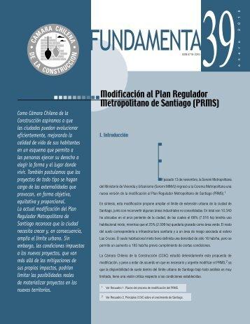 Modificación al Plan Regulador Metropolitano de ... - Biblioteca