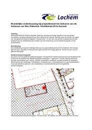 Ruimtelijke onderbouwing bij projectbesluit ten behoeve van de ...