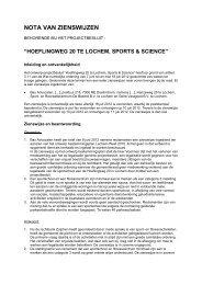 Nota van zienswijzen - Gemeente Lochem