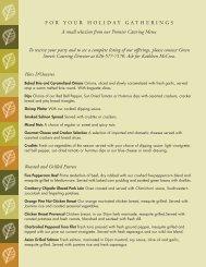 holiday menu - San Gabriel Valley Menus