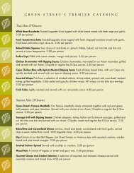 premier catering menu - San Gabriel Valley Menus