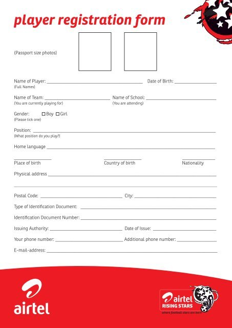 Individual Registration Form - Airtel Africa