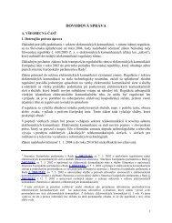 Dôvodová správa - Telekomunikačný úrad SR