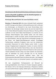 [PDF] Pressemitteilung - Prisma Informatik